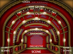 Plan d'un théâtre