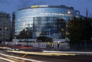 Le siège du groupe Renault, à Boulogne-Billancourt (92), de nos jours