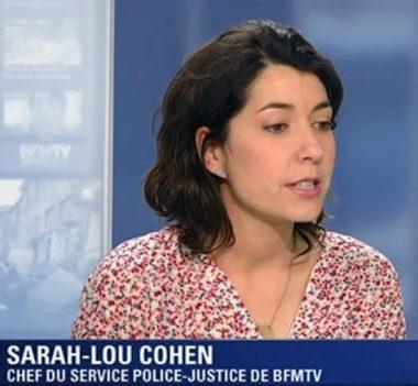 La journaliste française Sarah-Lou Cohen, chef du service police-justice sur BFM