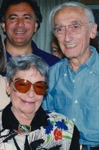 Simone Melchior, sa première épouse, et le commandant Jacques-Yves Cousteau