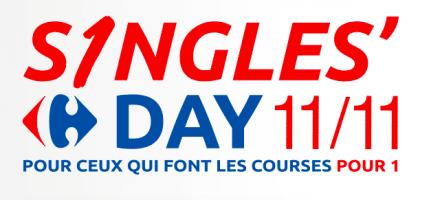 Carrefour singles' day le 11 novembre