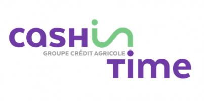 """Logo """"Cash in time"""", nouveau service du Crédit Agricole"""