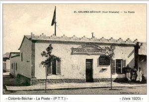 La Poste de Colomb-Béchar, dans les années 1920