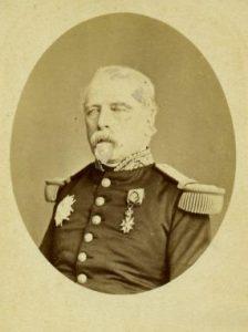 Le général de division français Louis Joseph Jean François Isidore de Colomb (6 janvier 1823 - 18 novembre 1902)