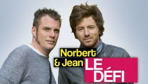 """Norbert Tareyre et Jean Imbert, les chefs cuisiniers de l'émission de télévision française """"Norbert & jean : le défi"""" sur 6ter (14 décembre 2012 - 6 juin 2014)"""
