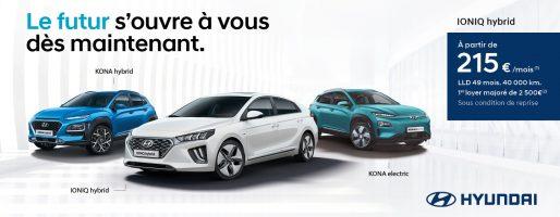 """Publicité Hyundai du 1er juillet au 30 septembre 2019 : """"Le futur s'ouvre à vous"""""""