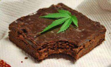 """Une part de """"space cake"""" ou """"gâteau au cannabis"""""""
