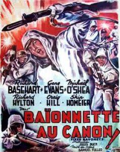 """Affiche du film états-unien """"Baïonnette au canon !"""" de Samuel Fuller (1951)"""