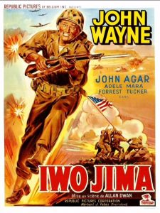 "L'affiche du film états-unien ""Iwo Jima"" de Allan Dwan (1949)"