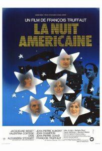"""Affiche du film français """"La nuit américaine"""" de François Truffaut (1973)"""