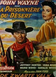 """Affiche flamande du film états-unien """"La prisonnière du désert"""", de John Ford (1956)"""