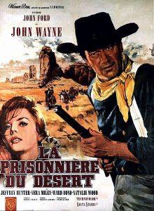 """Affiche du film états-unien """"La prisonnière du désert"""", de John Ford (1956)"""