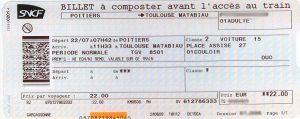 Billet de train SNCF