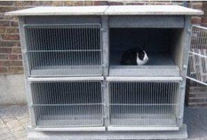 """Des cages à lapins ou """"Clapiers"""""""