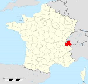 Localisation du département de Haute-Savoie (74) (© wikipedia.org)