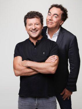 """Le duo comique français """"Les chevaliers du fiel"""", constitué des toulousains Éric Carrière et Francis Ginibre"""