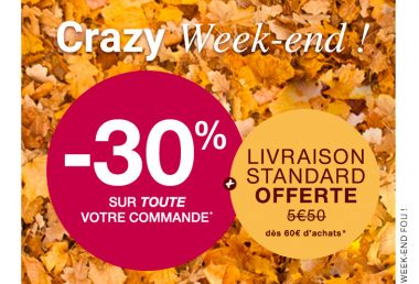 "Promotion ""Crazy Week-end"" de Damart des21 et 22 novembre 2020"