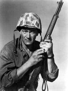 "L'acteur états-unien John Wayne dans le film états-unien ""Iwo Jima"" de Allan Dwan (1949)"
