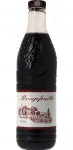 """Un """"kil de rouge"""" ou litre (1,5 litre ici) de vin rouge premier prix de piètre qualité"""
