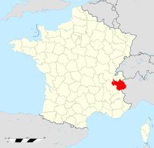 Localisation du département de Savoie (73) (© wikipedia.org)