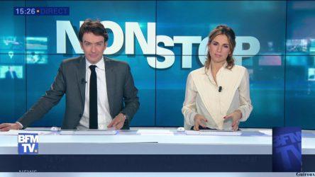 """L'émission """"Non stop"""" sur la chaîne de télévision française d'information en continu BFM TV"""