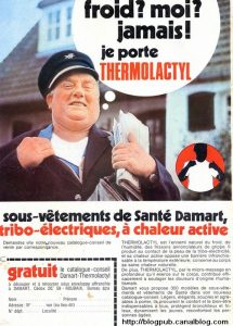 Publicité presse de 1971 pour Damart