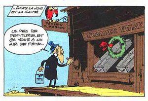 Une image de la série de bande dessinée franco-belge Lucky Luke de Morris et Goscinny