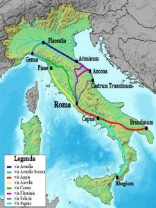 Les voies romaines impériales en Italie, qui, toutes, mènent à Rome