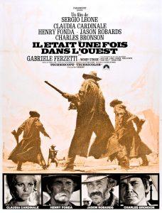 """Affiche du film états-unien """"Il était une fois dans l'ouest"""", de Sergio Leone (1968)"""