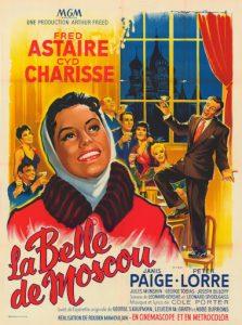 """Affiche du film états-unien """"La belle de Moscou"""", de Rouben Mamoulian (1957)"""
