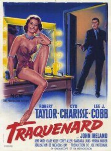 """Affiche du film états-unien """"Traquenard"""", de Nicholas Ray (1958)"""