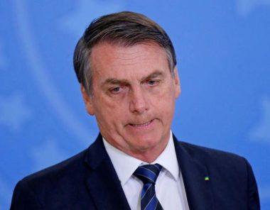 Le président brésilien Jair Bolsonaro arborant un rictus