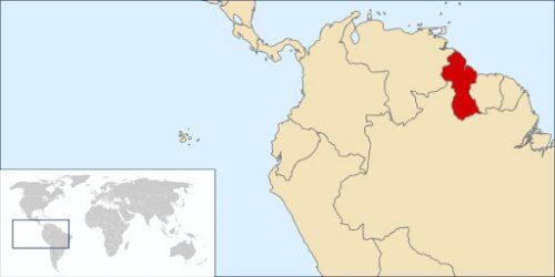 Localisation du Guyana dans le monde