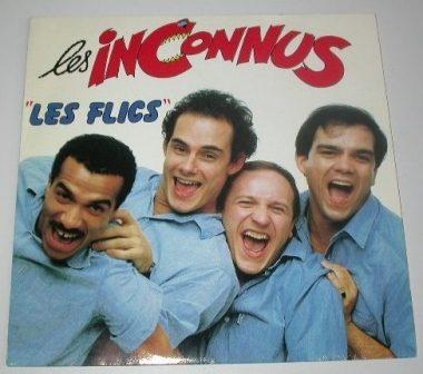 """""""Les Inconnus"""", avec Pascal legitimus, Bernard Campan, Seymour Brussel et Didier Bourdon"""