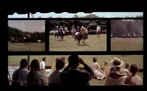 """Un écran divisé (""""split screen"""") dans le film états-unien de Norman Jewison """"L'affaire Thomas Crown"""" (1968)"""