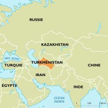 Localisation du Turkménistan dans le monde