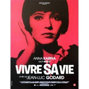 """Affiche du film français """"Vivre sa vie"""", de Jean-Luc Godard (1962)"""