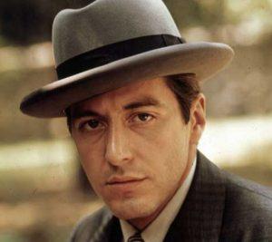 """L'acteur états-unien Al Pacino, dans le film états-unien """"Le parrain"""", de Francis Ford Coppola (1972)"""