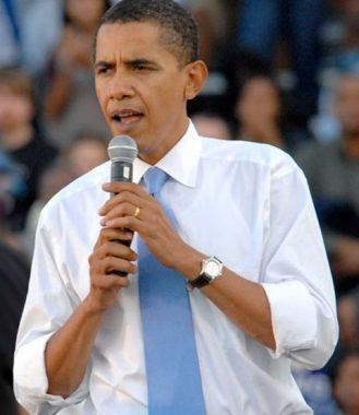 Le président états-unien Barck Obama, en bras de chemise