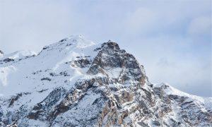 Les cimes d'une montagne