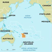 Localisation des îles Fidji