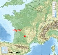 Localisation du village de Payrac (46)