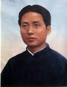 """Le dirigeant communiste chinois Mao Tsé-Toung jeune (1893-1976), portant un """"col Mao"""""""