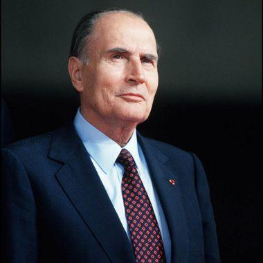 L'homme politique français François Mitterrand