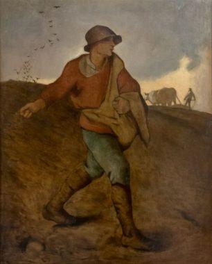 """""""Récolter ce que l'on semé"""" : extrait du tableau de Jean-François Millet """"Un semeur"""", peint en 1850"""