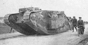 Un char d'assaut de la Première Guerre mondiale