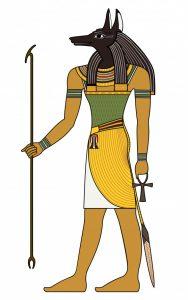 Anubis, le dieu égyptien à tête de chacal