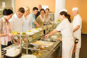 """Cantine d'entreprise, souvent appelée désormais """"restaurant d'entreprise"""""""