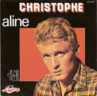 """""""Aline"""" / """"Je ne t'aime plus"""" : disque 45 tours enregistré par Christophe en 1965"""