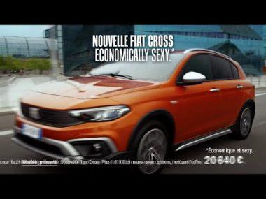 """Publicité télévisée de janvier 2021 pour la Fiat Cross : """"Economically sexy"""""""